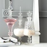 Paris Left Bank Verre Fluted Decanter (Set of 3)