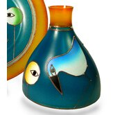 Salvadori Vase in Blue and Orange