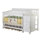 4 in 1 Brody Convertible Crib with Changer in White