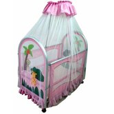 Cassidy Canopy Portable Crib in Pink