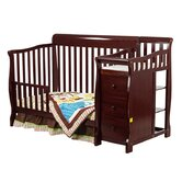 4 in 1 Brody Convertible Crib with Changer in Cherry