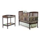 2-in-1 Full Size Crib and Changing Table Combo