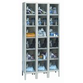 Safety-View Plus Stock Lockers - Six Tiers - 3 Sections (Assembled)