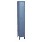 ValueMax One Wide Single Tier Locker in Hallowell Gray (Assembled)