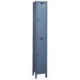 ValueMax One Wide Double Tier Locker in Hallowell Gray (Assembled)