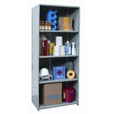 Hi-Tech Shelving Medium-Duty Closed Type Starter and Optional Add-on Unit with 5 Shelves