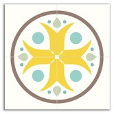 Organic Origins Decorative Tile Quad in Misty Bloom