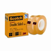"665 Double-Sided Office Tape, 1/2"" x 25 Yards, 1"" Core, Clear, Two/Box"