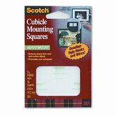 Removable Cubicle Mounting Squares, Precut 11/16 Squares, 35 Squares/pack
