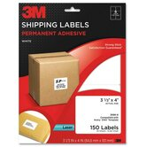 "Shipping Labels,Laser Paper,3-1/3""x4"",150/PK,White"