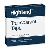 Transparent Tape, 1&quot;x2592, 3&quot; Core, Clear