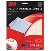 "Address Labels, Inkjet Film, 1/2""x-3/4"", 2000per Pack, Clear"
