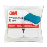Whiteboard Eraser Pads, 5&quot;x3&quot;, 2 per Pack, White/Yellow