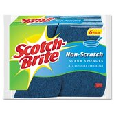 Scotch-Brite Non-Scratch Multi-Purpose Scrub Sponge, 6/Pack