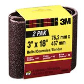 "2 Pack 3"" X 18"" Extra Coarse Power Sanding Belts 9284NA-2"