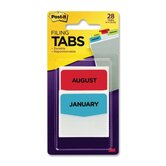 Post-it Printed Monthly Filing Tabs (28 Per Pack)