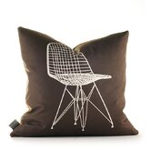 Modern Classics Pillow in Chocolate and Sunshine