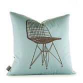 Modern Classics 1951 Pillow in Cornflower and Chocolate