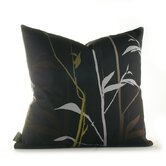 Morning Glory Tall Grass Pillow in Charcoal and Olive