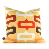 Aequorea Smile Pillow in Sunflower and Scarlet