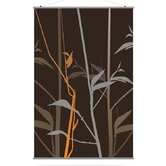 Morning Glory Tall Grass Slat in Charcoal and Rust