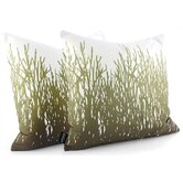 Field Grass Throw Pillow in Moss