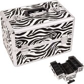 Zebra Pattern Professional Cosmetic Makeup Train Case