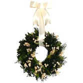 Evergreen Frost Wreath