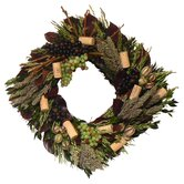 Vintage Sauvignon Square Wreath