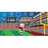 Personalized Canvas Wall Mural Football Boy