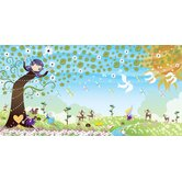 Personalized Canvas Earth Girl Wall Mural