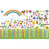 Peel and Play Flower Garden Wall Play Set