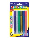 Metallic Glitter Glue Pen (Set of 6)
