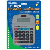 8-Digit Calculator with Adjustable Display