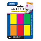 Neon Color Standard Flags (Set of 6)