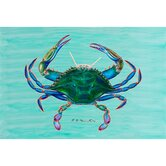 Coastal  Blue Crab Door Mat