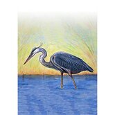 Blue Heron Vertical Flag