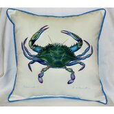 Coastal Male Blue Crab Indoor / Outdoor Square Pillow