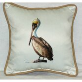 Coastal Pelican Border Indoor / Outdoor Pillow