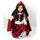 Riding Hood 4 Piece Doll Outfit Set
