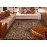 Tribeca Chunky Shag Brown Rug