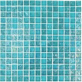 "Geo Glass Square 12"" x 12""  Glass Mosaic in Blue"