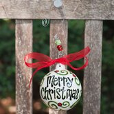 """Merry Christmas"" Topiary  Ornament"