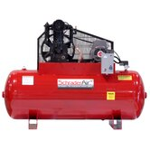 Professional Series Two Stage 5HP 80 Gallon Single Phase  Horizontal Compressor