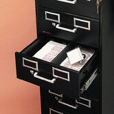 8-Drawer File Cabinet for 3 X 5 and 4 X 6 Cards