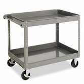 Two-Shelf Metal Cart