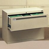 Lateral File With 2 Drawers With Retractable Doors