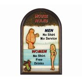 29&quot; High House Rules Sign