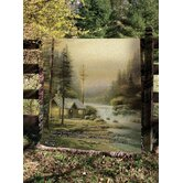 Evening in Forest Tapestry Throw