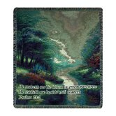 Petals of Hope Verse Tapestry Throw